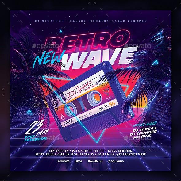 Party Flyer Retrowave