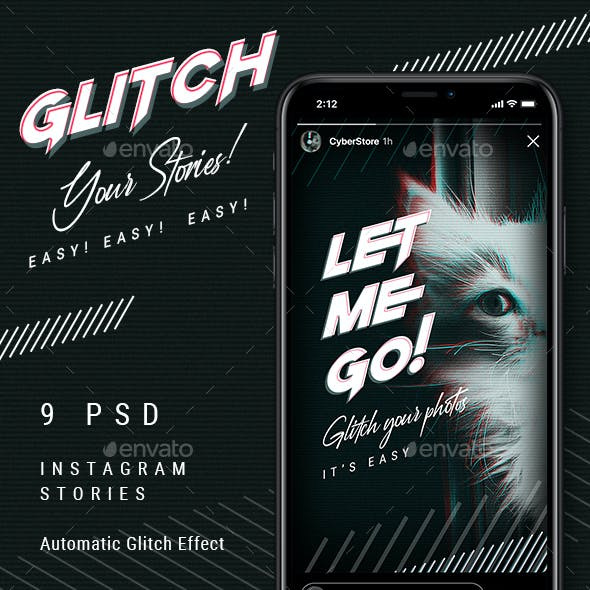 Glitch Instagram Stories