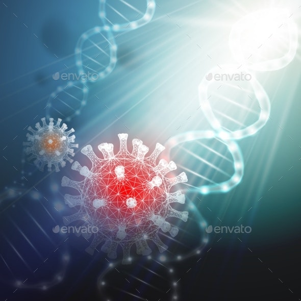 Medical Background of Coronavirus - Backgrounds Decorative