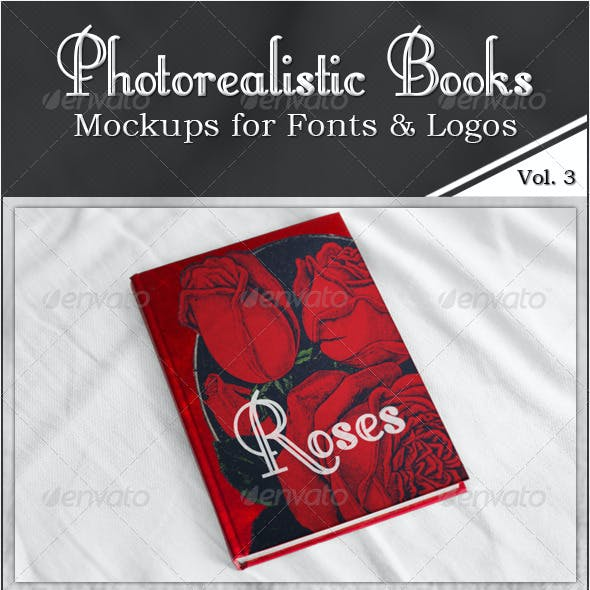Photorealistic Books Mockups, Vol. 3