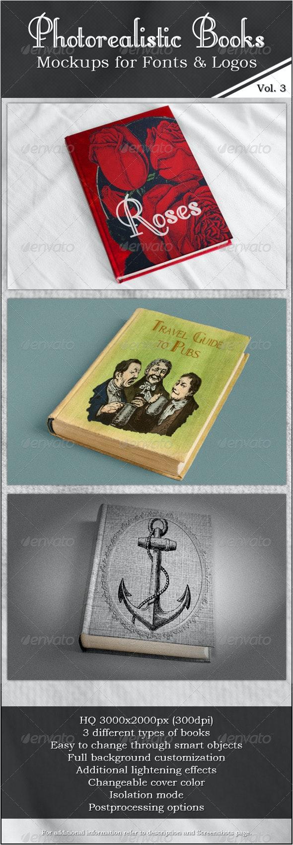Photorealistic Books Mockups, Vol. 3 - Books Print