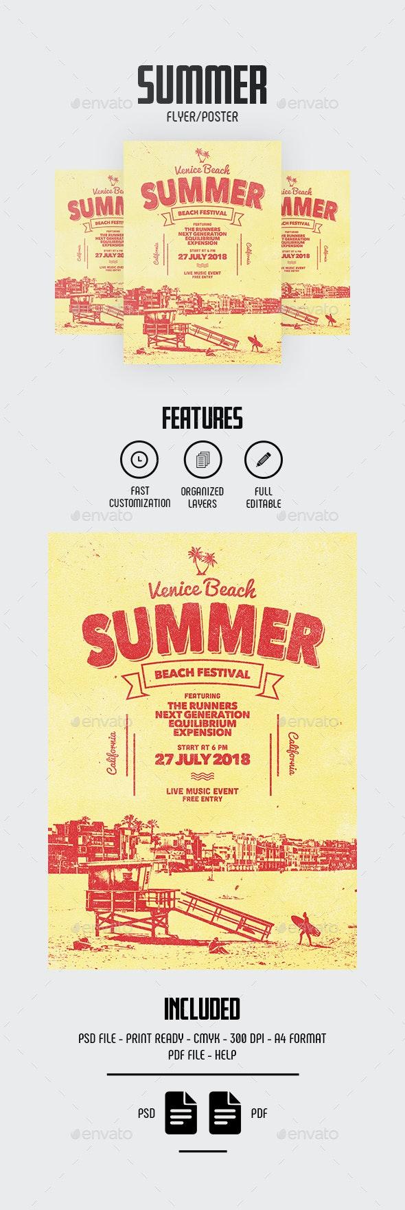 Summer Flyer/Poster - Concerts Events