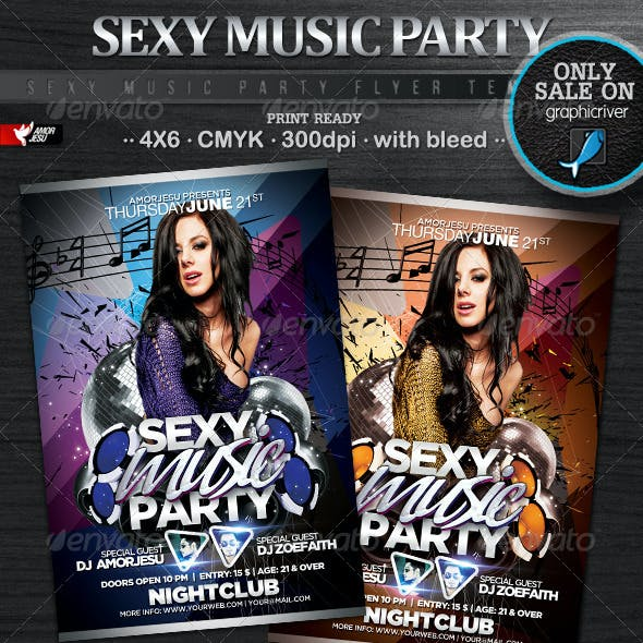 Sexy Music Party Flyer Template