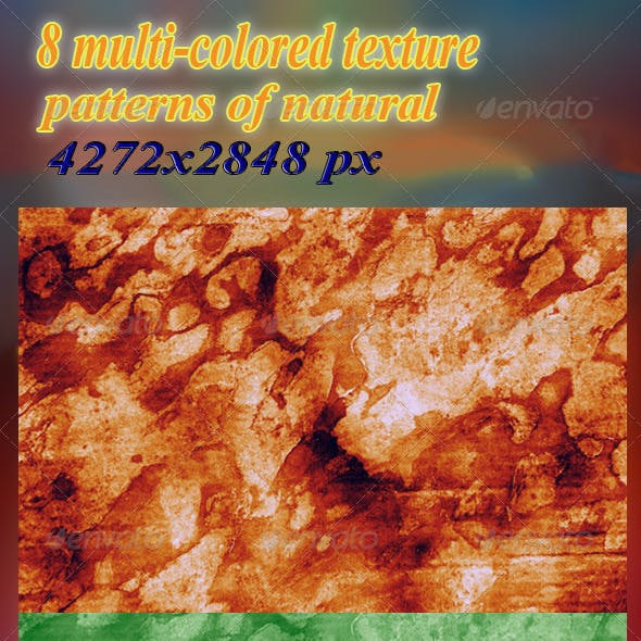 8 Multi-Colored Texture Patterns of Natural