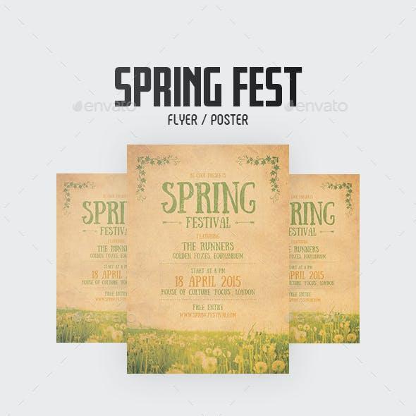 Spring Festival Flyer/Poster