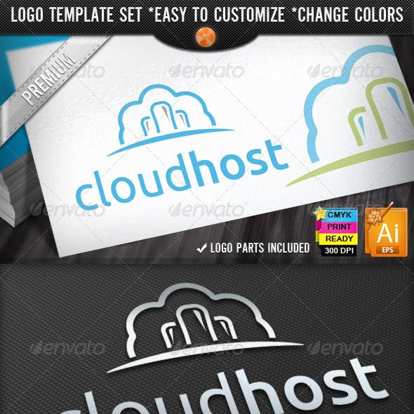 IT Business Computing Cloud Hosting Logo Designs