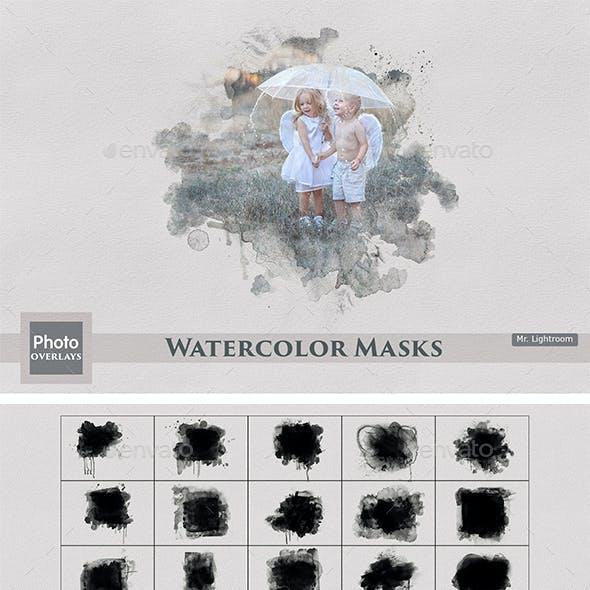 25 Watercolor Masks