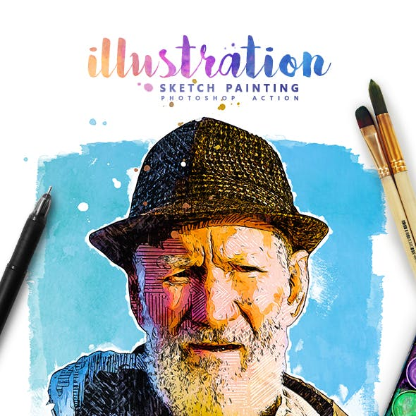 Illustration - Sketch Painting Photoshop Action