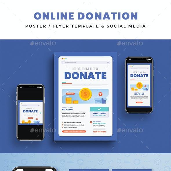 Online Donation Flyer & Social Media