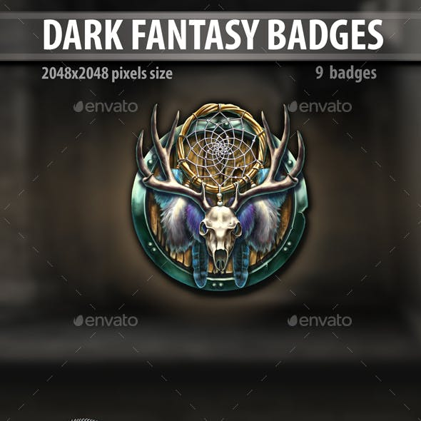 Dark Fantasy Badges