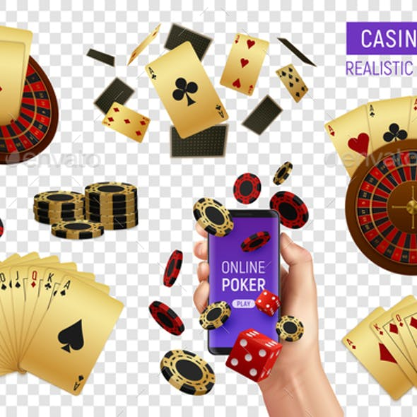 Poker Casino Set Transparent
