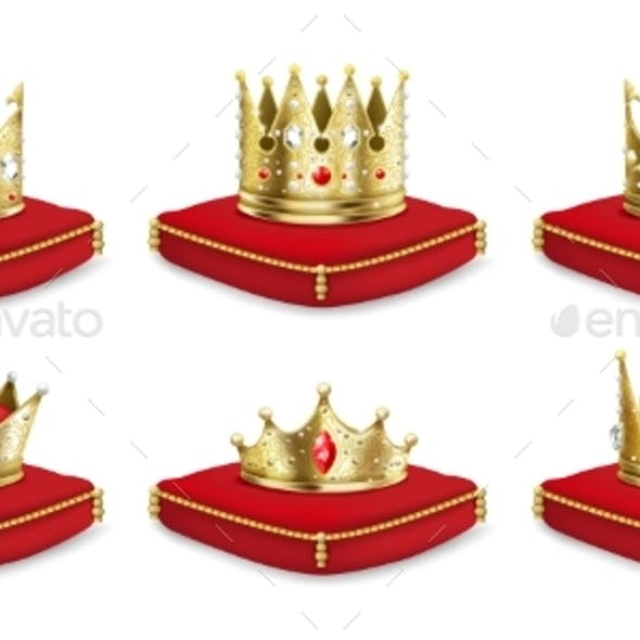 Crowns on Pillow