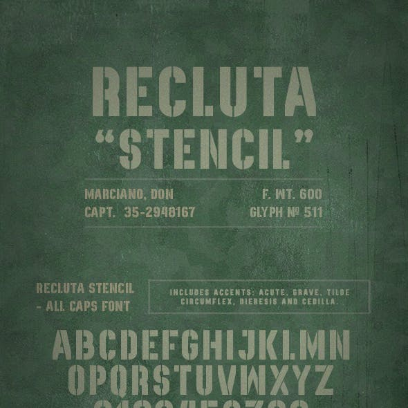 Recluta Stencil