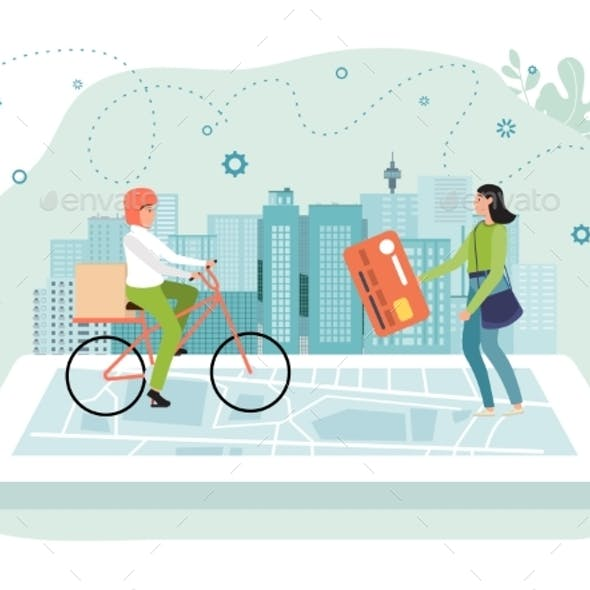 Online Delivery App Concept Vector Illustration