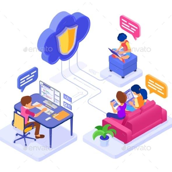 Online Collaboration Education Cloud Technology