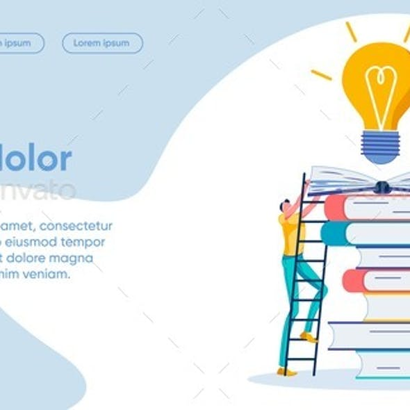 Way To Idea Flat Landing Page Vector Template