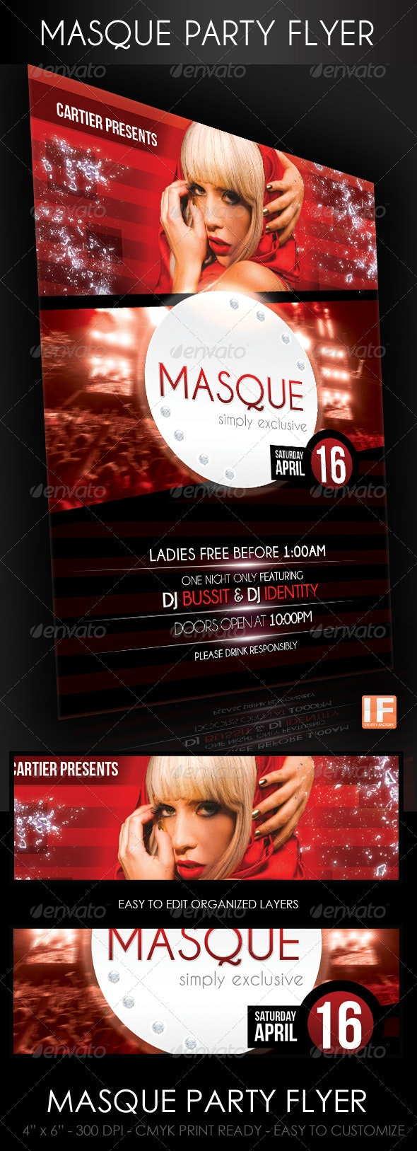 Masque Party Flyer - Clubs & Parties Events