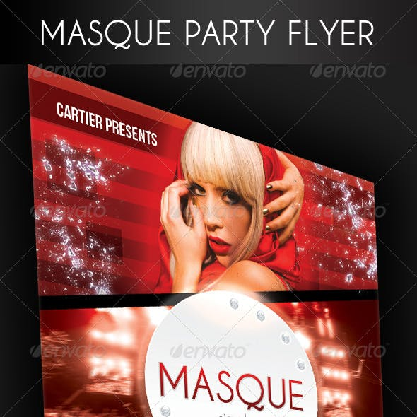Masque Party Flyer