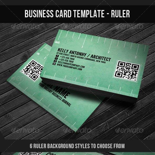 Corporate Business Card Template - Ruler