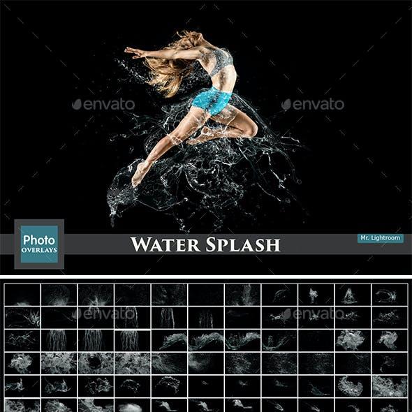 130 Water Splash Photo Overlays