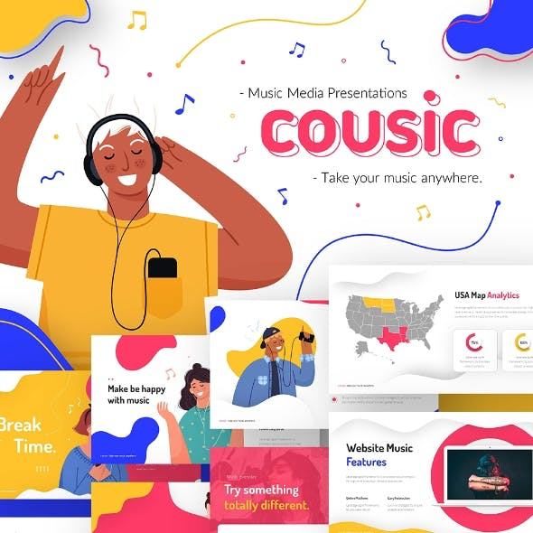 Cousic Music Event Powerpoint Presentation Template Fully Animated