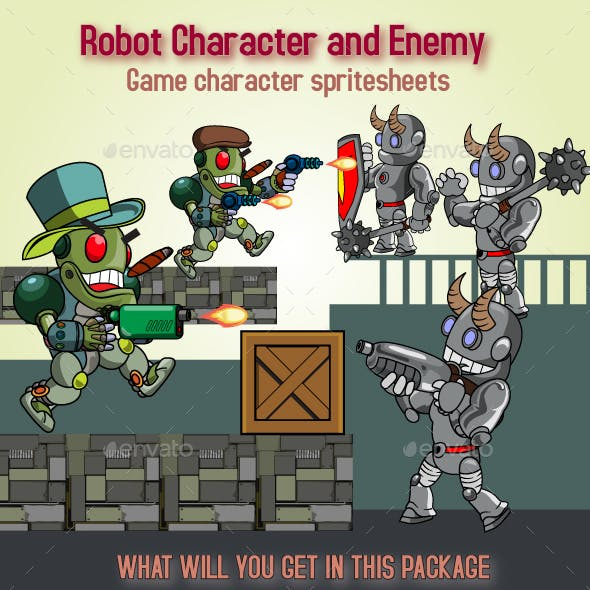 Robot Character and Enemy