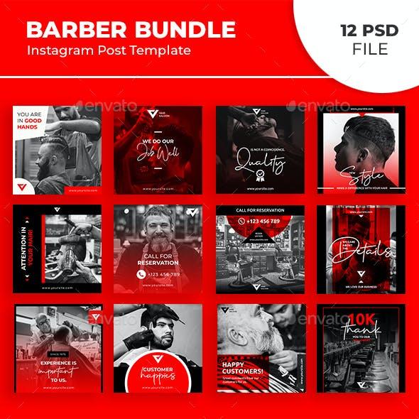 Barber Instagram Post Bundle