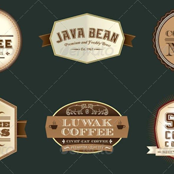 Vintage Retro Coffee Labels