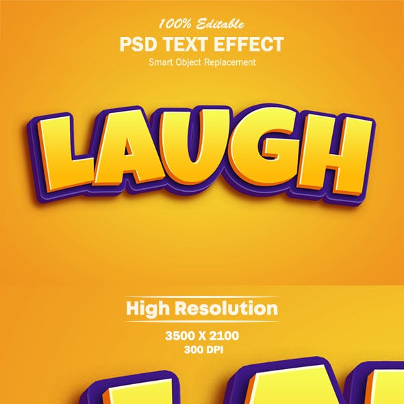 3D Cartoon Game Logo Text Effect