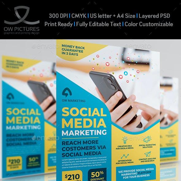 Social Media Marketing Flyer Template