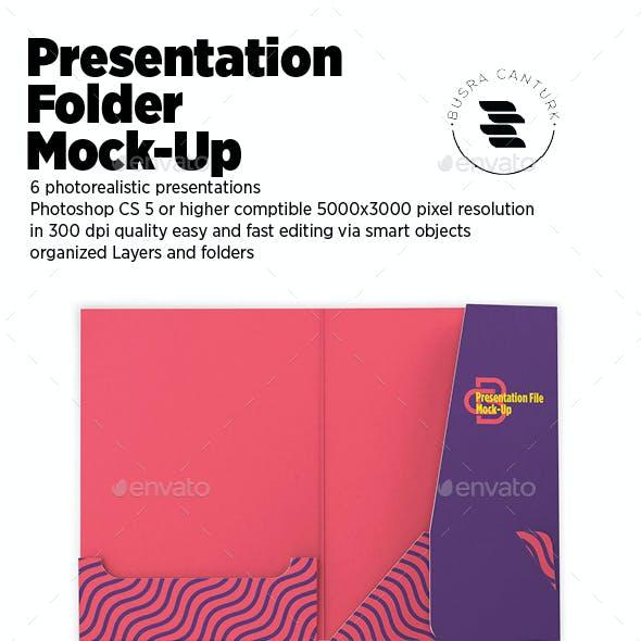 Presentation Folder Mock-up