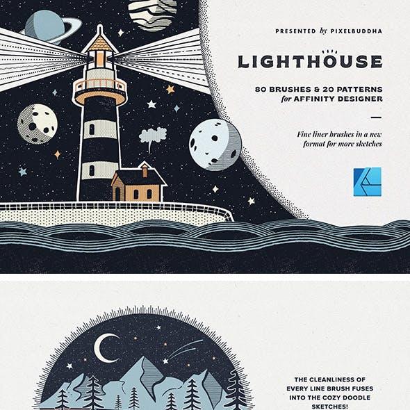 Lighthouse Liner Affinity Brushes
