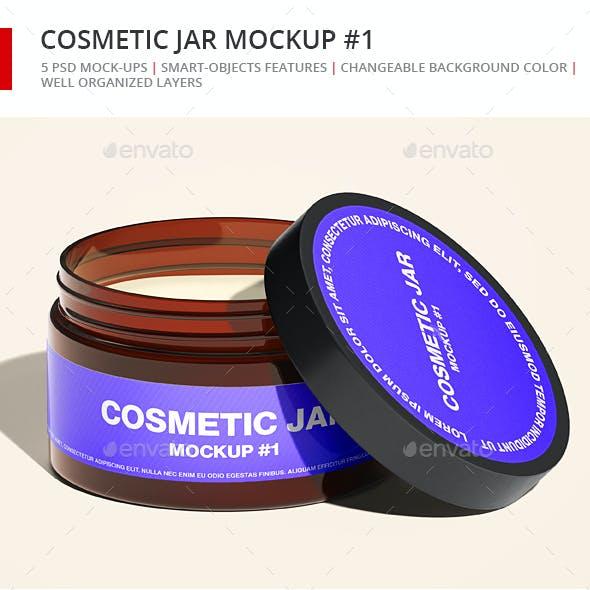 Cosmetic Amber Jar Mockup - Small