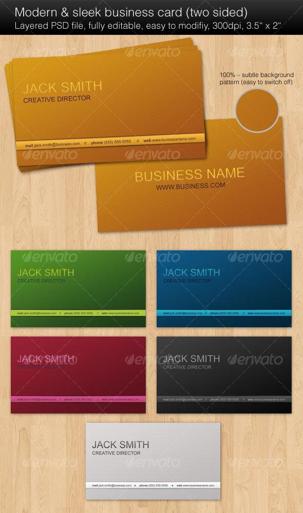 Modern & sleek business cards - Corporate Business Cards