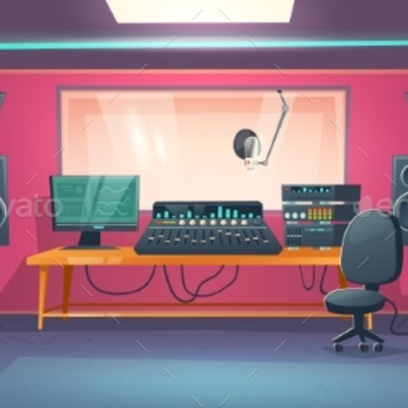 Music Studio Control Room and Singer Booth