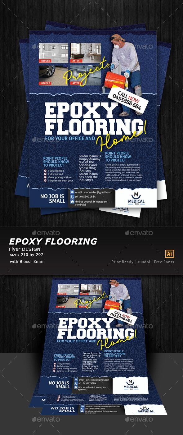 Epoxy Flooring Flyer Template - Commerce Flyers