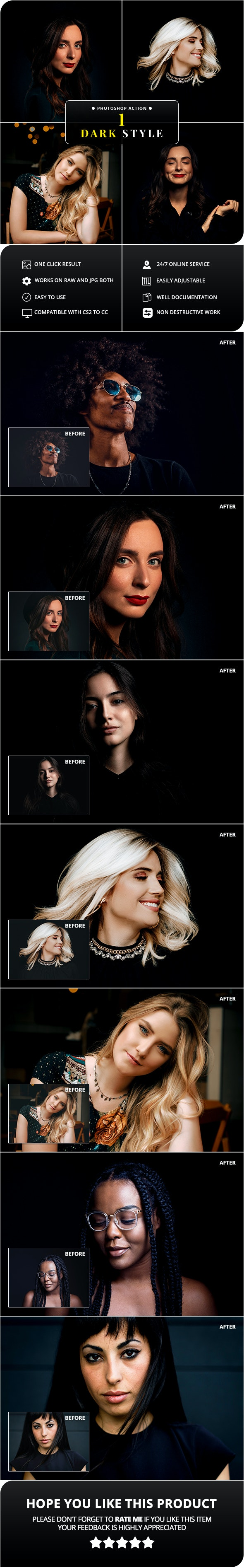 Dark Style Photoshop Action - Photo Effects Actions