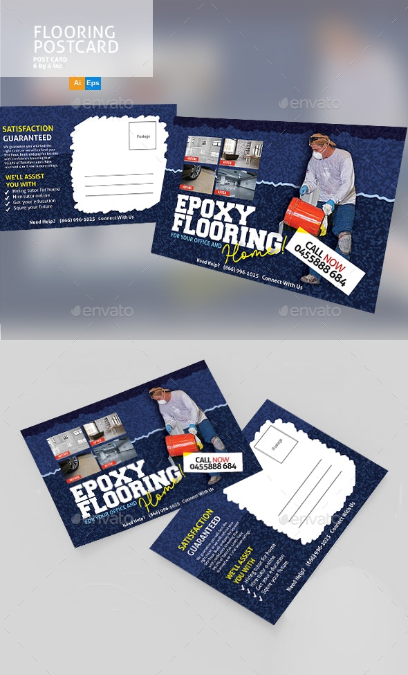 Epoxy Flooring Postcard Template - Cards & Invites Print Templates