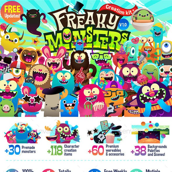 Freaky Monsters Creation Kit