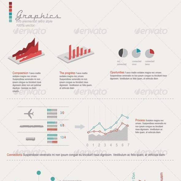 Retro Infographics Elements
