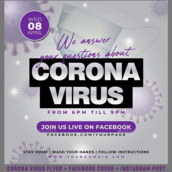 Coronavirus Event Flyer Banner
