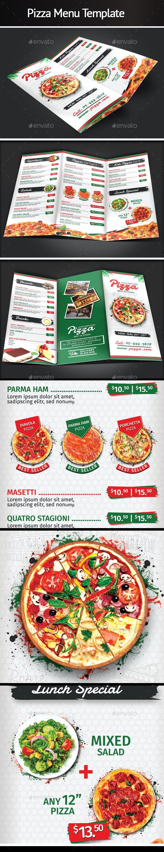 Trifold Pizza Template - Food Menus Print Templates