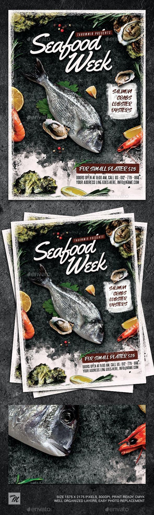 Seafood Flyer - Restaurant Flyers