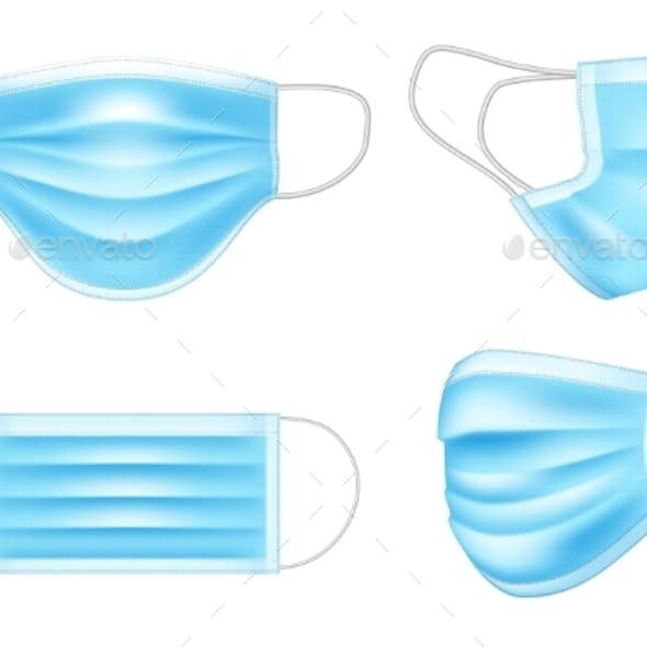 Blue Medical Mask for Doctor and Patient