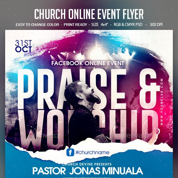 Church Online Event Flyer