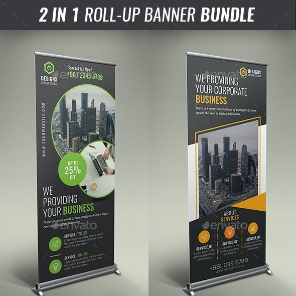 Business Roll Up Banner Bundle V09