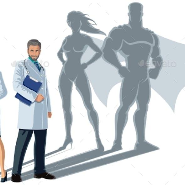 Doctor Superheroes Shadow
