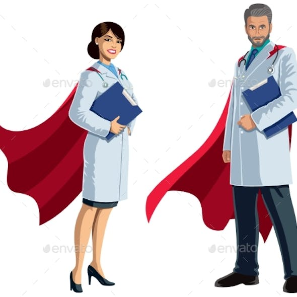 Doctor Superheroes on White