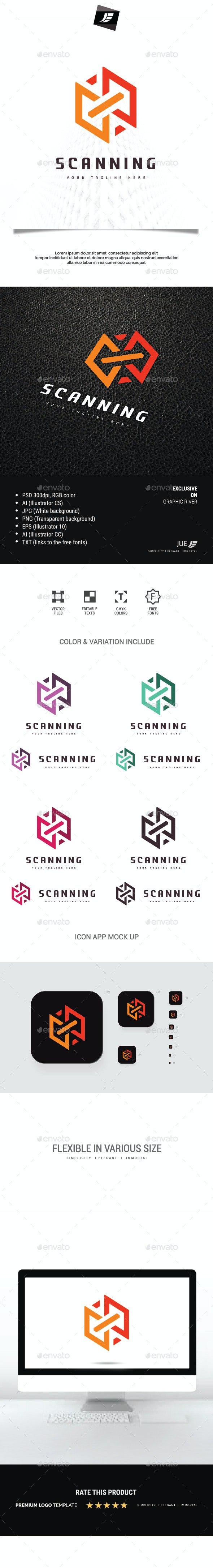 Scanning Cube Logo - 3d Abstract