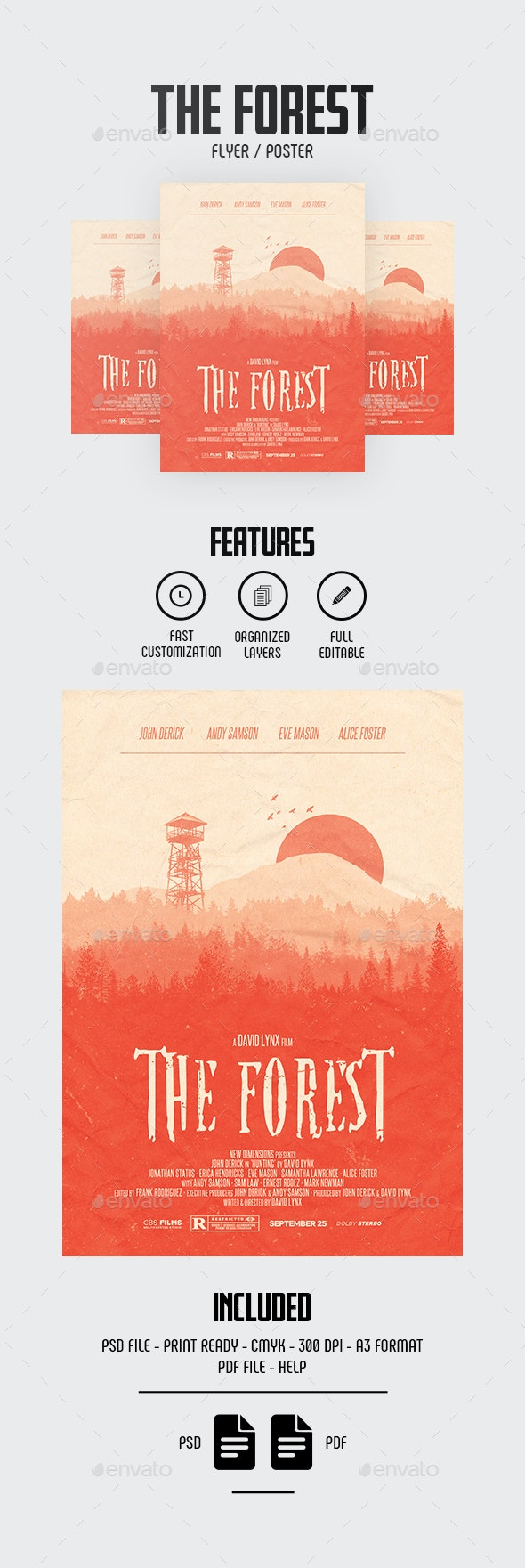 Forest Movie Flyer/Poster - Miscellaneous Events